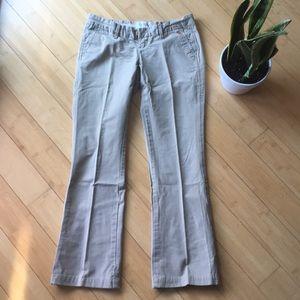 Abercrombie & Fitch khaki bootleg trouser slacks